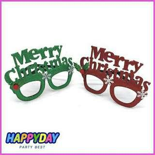Merry christmas xmas glasses