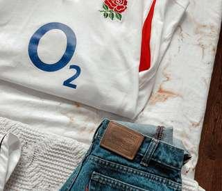 Vintage Nike O2 Official England Rugby Shirt (Crop)