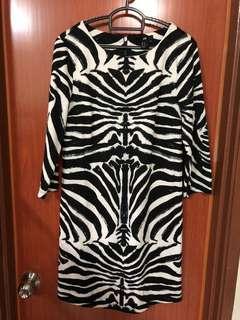 H&M zebra dress