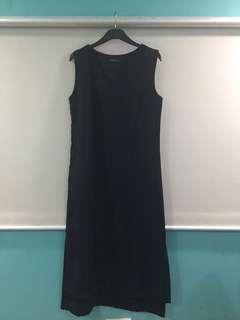 Black Tailored Midi Dress