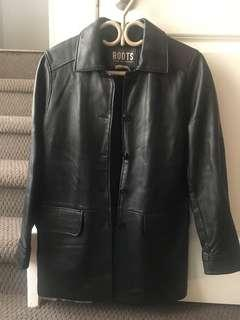 ROOTS leather coat - soft leather