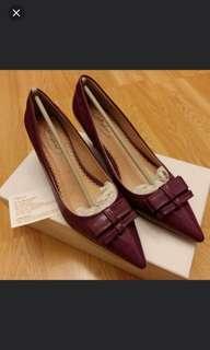 全新 Playlord 紫色高跟鞋 皮鞋 原價$899
