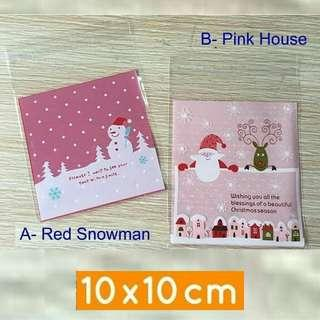 100pcs christmas cookie bag xmas
