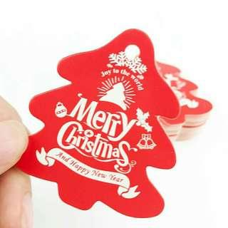 50pcs christmas tree decoration hang tag