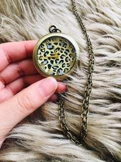 Necklace with watch