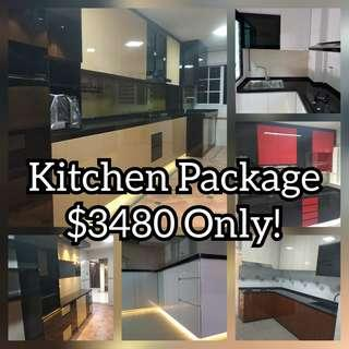 Kitchen Cabinet  pacakage $3480