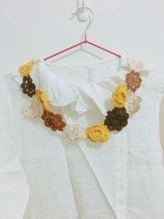 🚚 買物可贈🎁編織小花裝飾項鍊