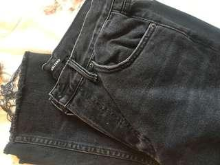 GRLFRND HELENA high waisted straight jeans size 26 black