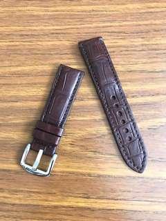 22mm/20mm Genuine Matt Dark Brown🐊Crocodile Alligator Watch Strap 👌🏻 Tudor Black Bay Breitling Chronograph Rolex Skydweller DSSD SD43 IWC 7 Days Portuguese Tournillon 🌟