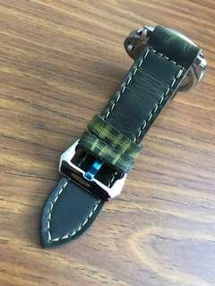 26mm/26mm Dark British Racing Green with Light Green Streaks Leather Watch Strap 👌🏻 for Panerai Watch (the only piece)