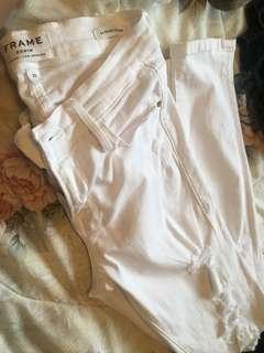 FRAME denim white le skinny jeans size 25