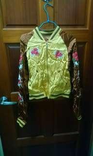 🚚 收藏款💓 日本古著 精緻刺繡雙面穿橫須賀外套 緞面💓