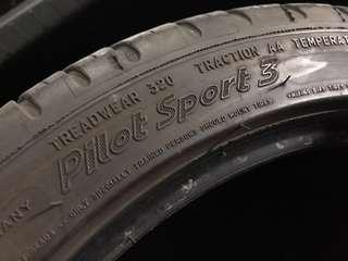 Michelin Pilot Sport PS3 used for quick sale - 205/45/16