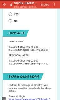 SHIPPING FEE COST