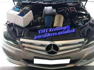 #jetexfilters_mercedes. #jetexfiltersasialink. Mercedes Benz C180 Kompressor on site replacement of Jetex high flow performance drop in air filter with 1.14 kpa flow rate washable & reusable.