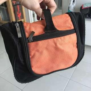 Toiletries bag with hook