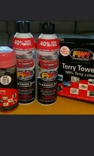 AlL SOLD Below Cost FW1 A Racing Formula. Cars, Motorbike, Boat, Plane And Household Counter Top I Have Some New Ready Stocks Of FW1 High Performance Cleaning Wax With Carnauba. Wash & Wax Paint Chrome Rims, Glass, Leather & Plastic. The Best Deal.