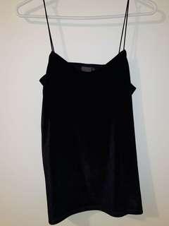 Black Velvet cami / size S