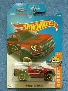 HOT WHEELS-17 FORD F-150 RAPTOR