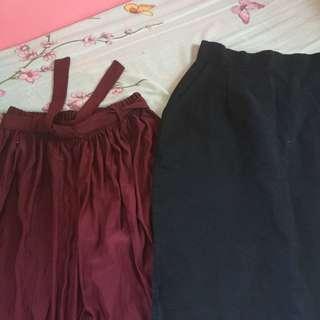 BUNDLE: cullotes + Skirt