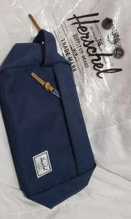 Herschel navy blue authentic pouch BNEW