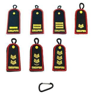 No.1 Key Tag Mini Ranks - Officers and Specislists Ranks #1502 and ME Ranks.
