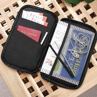 日本 多功能出差旅行 證件護照機票錢包 收納袋