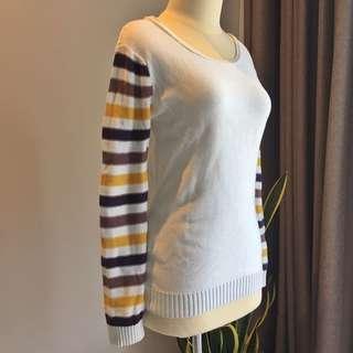Stripes sleeves knitwear