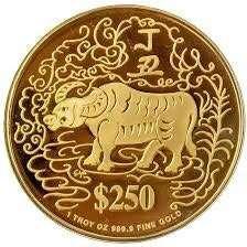 WTB Singapore mint gold ox 1997