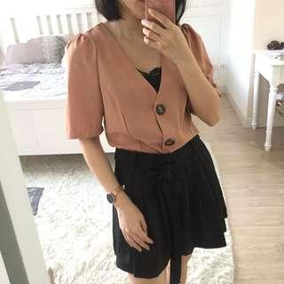 Zara inspired vintage buttoned up blouse