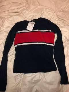 BNWT Brandy Melville Stripe Long Sleeve Top