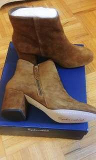 Suede /leather booties size 8