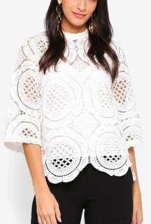 Miss Selfridge circle lace Victoriana top