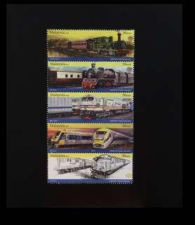 2015 Malaysia KTM Trains 5V Mint (Booklet Version)