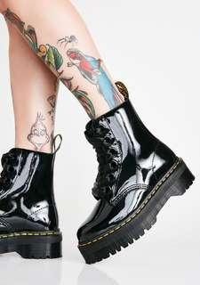 Dr martens patent molly 8 eye satin laces