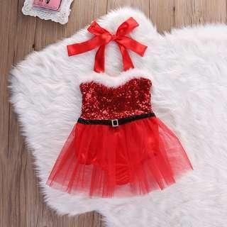 🚚 Instock - 2pc sequin romper dress, baby infant toddler girl