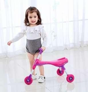 Toddler to young kids Bug Scooter. 4 Colours available