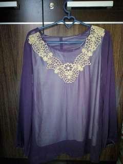 Baju panjang warna ungu