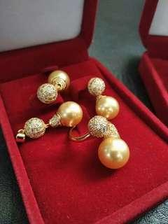 South sea pearls set jewelry