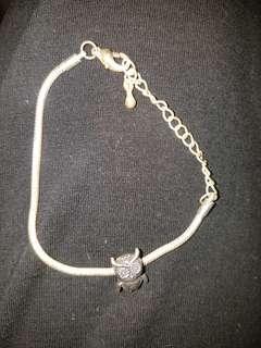 Pandora style charm bracelet with owl charm