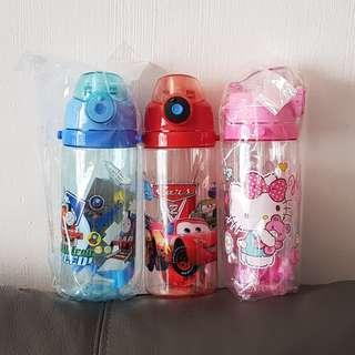 1for$12 2for$20 Instock Hello Kitty Cars McQueen Thomas & Friend 500ml Straw type with Lock Water Bottle