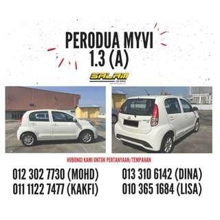PERODUA MYVI 1.3 (A) FOR RENT!!