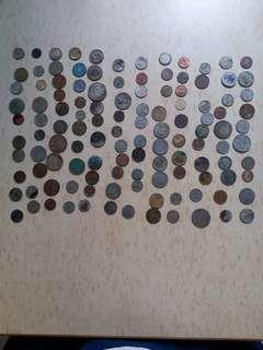 硬幣 代幣 多國 120個 2