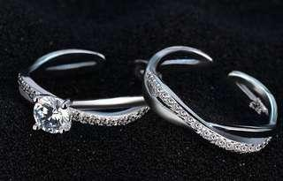 Ring female open couple ring couple ring