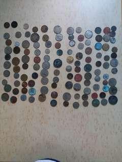 硬幣 代幣 多國 120個 4