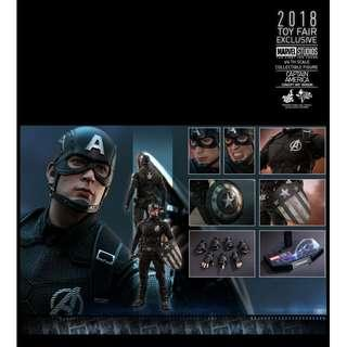 Hot Toys Captain America (Concept Art Version) 2018 Toy Fair Exclusive MMS488 MISB