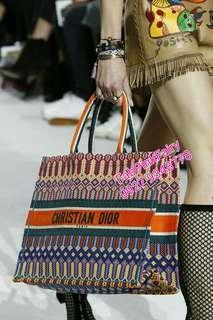 Christian Dior Book Tote Dior Bag CD Tote Christmas Gift School Bag