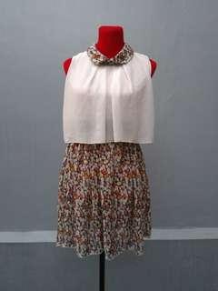 Chiffon Collared Dress