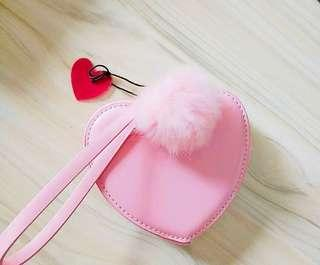 預訂🍁秋冬新貨 粉紅心形 馬卡龍 甜品錢包 手袋 化妝袋