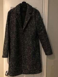 Speckled black/white/gray men's coat SMALL